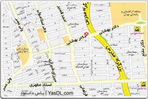 نقشه تهران سال 90