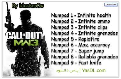 دانلود ترینر کالاف دیوتی ۸   Call of Duty Modern Warfare 3