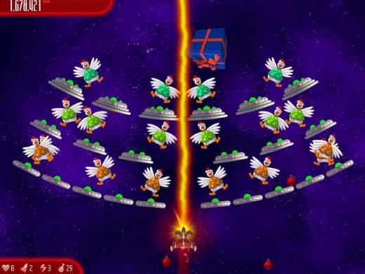 دانلود نسخه کریسمس بازی Chicken Invaders v4.10 2012