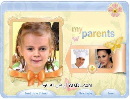 دانلود نرم افزار تشخیص چهره نوزاد توسط عکس پدر و مادر Baby Maker | یاس دانلود