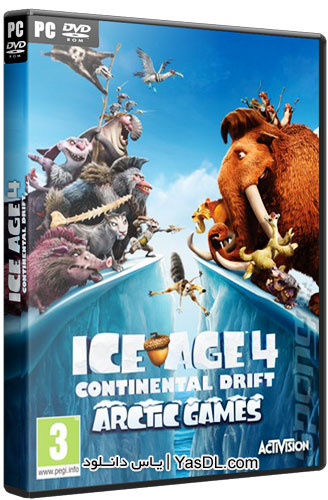 دانلود بازی عصر یخبندان 4 برای PC دانلود بازی Ice Age 4 Continental Drift Arctic Games 2012