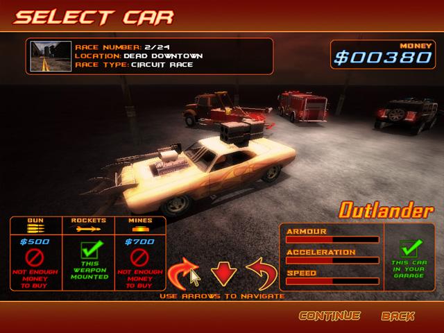 دانلود بازی اکشن و کم حجم ماشین جنگی Deadly Race برای PC