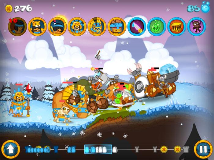 دانلود بازی کم حجم و خنده دار Swords and Soldiers 2012 برای PC