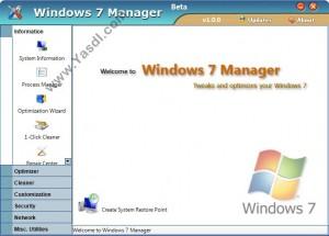 دانلود نرم افزار Windows 7 Manager 4.1.3 Final   مدیریت ویندوز 7
