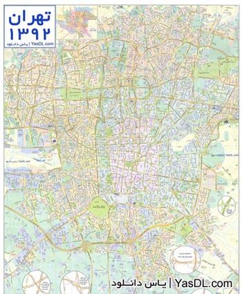 دانلود نقشه تهران 92 با کیفیت بالا