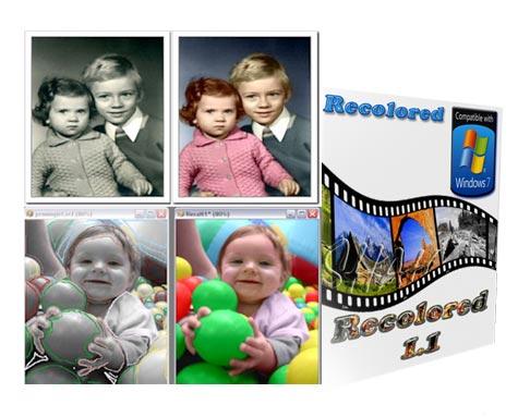 دانلود Recolored 1.1.0 - نرم افزار رنگی کردن تصاویر سیاه سفید