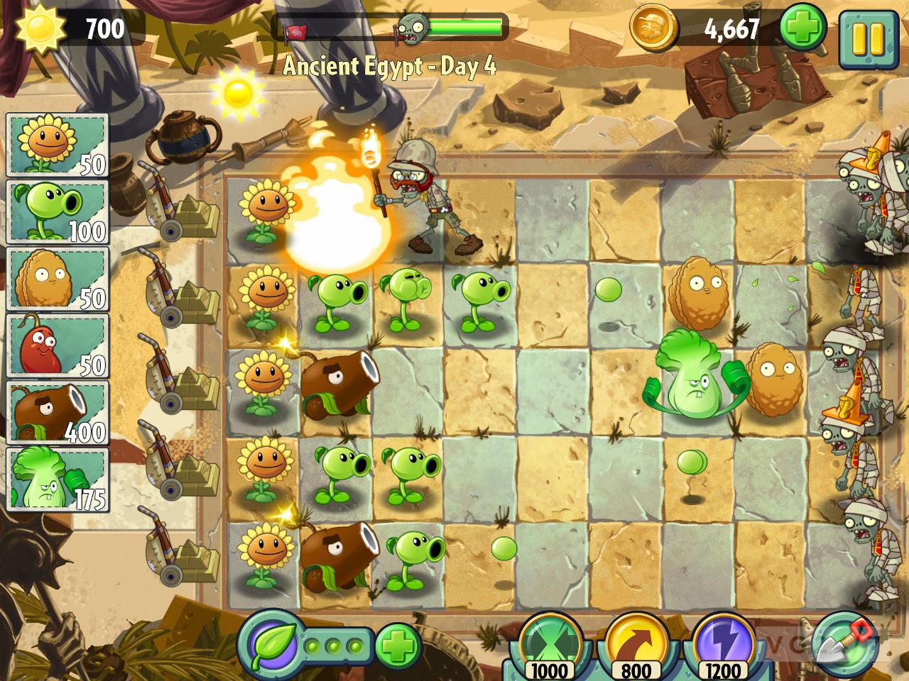 تریلر بازی plants vs zombies 2 تصاویر گیم پلی