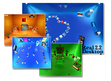 دانلود Real Desktop - نرم افزار ساخت دسکتاپ سه بعدی
