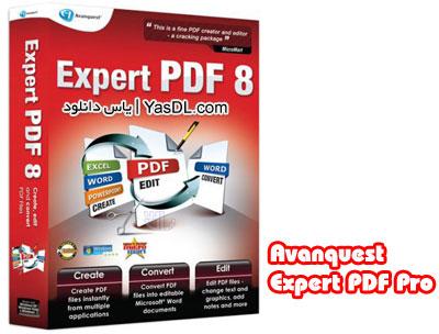 دانلود Avanquest Expert PDF Professional 8.0.360 - ویرایش و تبدیل فایل های PDF