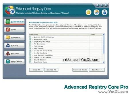 دانلود Advanced Registry Care Pro 2.0.0.100 - بهینه سازی سیستم و رجیستری ویندوز