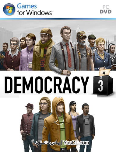 دانلود بازی کم حجم دموکراسی Democracy 3 برای PC