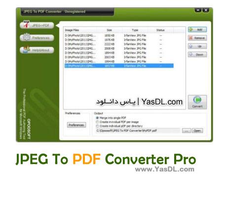 دانلود JPEG To PDF Converter Pro نرم افزار تبدیل فایل های تصویری به PDF