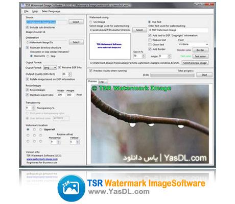 دانلود TSR Watermark Image Software 2.4.3.3 نرم افزار ویرایش تصاویر