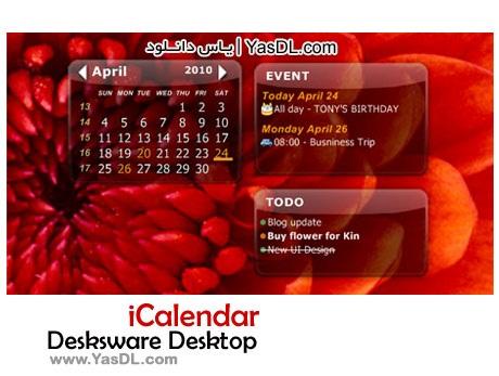 دانلود Desksware Desktop iCalendar 3.2.9.534 - تقویم برای دسکتاپ ویندوز