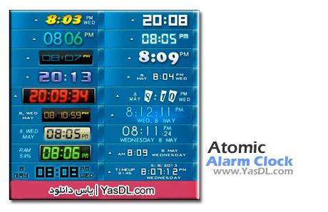 دانلود Atomic Alarm Clock 6.264 - نرم افزار جایگزین ساعت ویندوز
