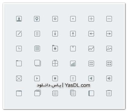 دانلود مجموعه 36 آیکون کاربردی برای طراحان PSD Icons