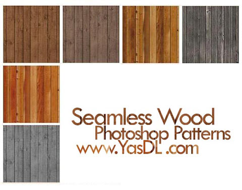 دانلود پترن چوب - Seamless Wood Photoshop Patterns