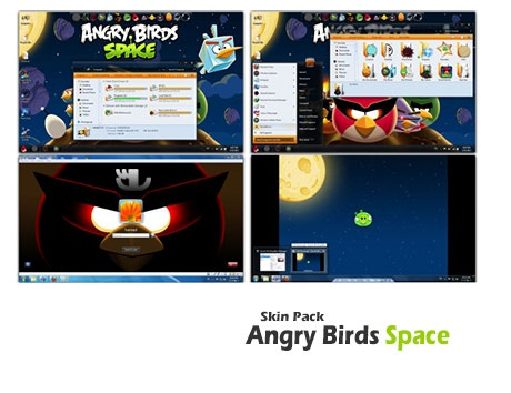 دانلود Angry Birds Space Skin Pack - تم پرندگان خشمگین