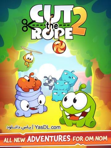 دانلود بازی Cut the Rope 2 v1.1.2 برای اندروید
