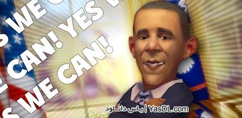 دانلود بازی Talking Obama 2 - اوباما سخنگو برای آندروید