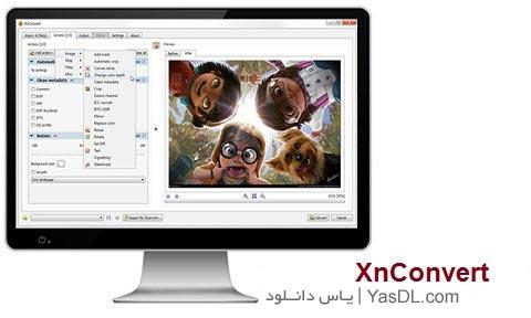 دانلود XnConvert 1.63 - نرم افزار مبدل و کم حجم کننده تصاویر