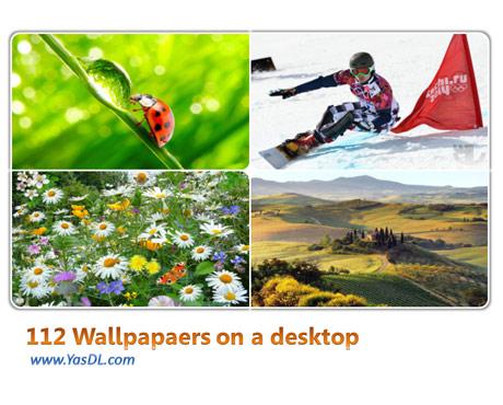 دانلود مجموعه 112 والپیپر گوناگون Wallpapers on a desktop