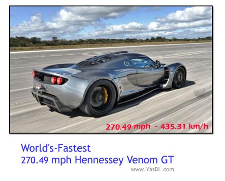 دانلود کلیپ سریعترین خودرو جهان 2014 - Hennessy Venom GT