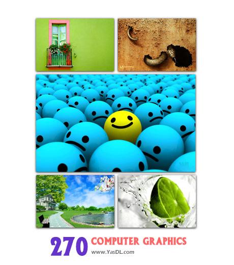 دانلود مجموعه 270 والپیپر گرافیکی Computer Graphics Wallpapers