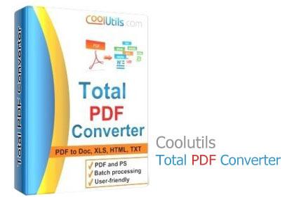 دانلود Coolutils Total PDF Converter 6.1.0.68 - نرم افزار مبدل فایل های PDF