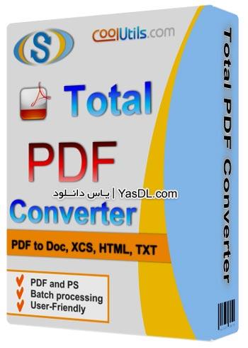 دانلود Coolutils Total PDF Converter 2.1.272 - نرم افزار مبدل فایل های PDF