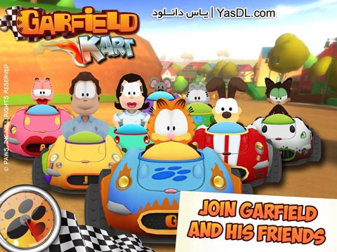 دانلود بازی Garfield Kart 1.1 - کارتینگ گارفیلد برای اندروید + دیتا