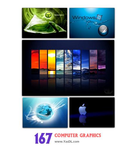 دانلود مجموعه 167 والپیپر گرافیکی برای دسکتاپ Wallpapers computer graphics