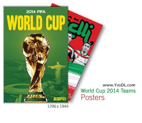 دانلود پوستر 32 تیم حاضر در جام جهانی 2014 برزیل