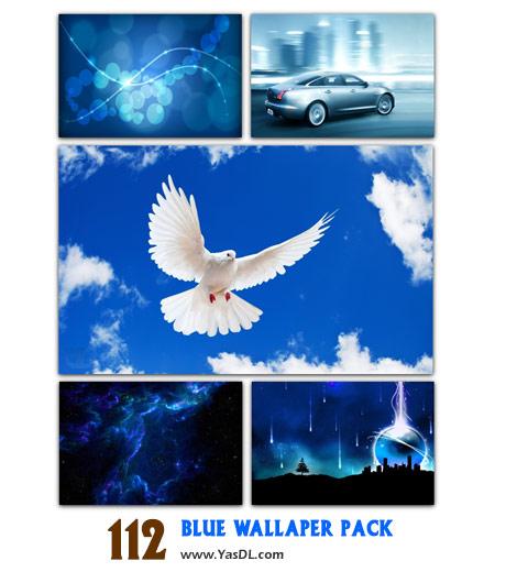 دانلود مجموعه 112 والپیپر آبی Blue Wallpaper Pack