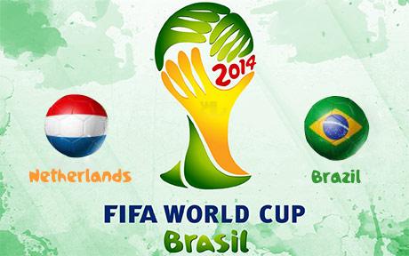 دانلود خلاصه و گل های بازی برزیل و هلند - جام جهانی 2014