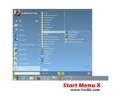 دانلود Start Menu X Free 5.24 - منو استارت پیشرفته برای ویندوز
