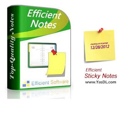 دانلود Efficient Sticky Notes Pro 3.71 Build 371 - نرم افزار چسباندن یادداشت در دسکتاپ