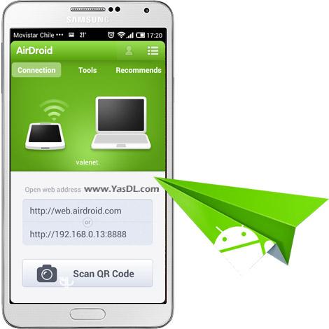 دانلود AirDroid 3.1.6 - مدیریت گوشی با WiFi برای اندروید