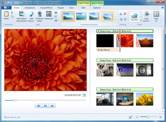 how to open windows live movie maker