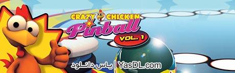 دانلود بازی کم حجم Crazy Chicken Pinball برای کامپیوتر