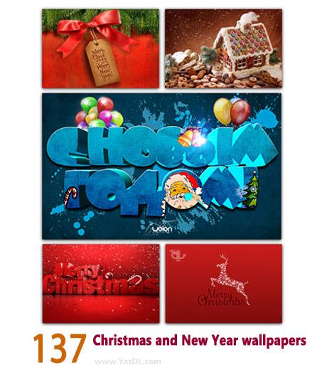دانلود مجموعه 137 والپیپر کریسمس Christmas and New Year wallpapers