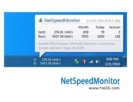 دانلود NetSpeedMonitor 2.5.4.0 - نرم افزار نمایش سرعت اینترنت در ویندوز