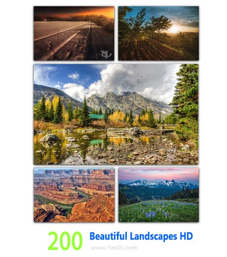 دانلود مجموعه 200 والپیپر طبیعت Beautiful Landscapes HD