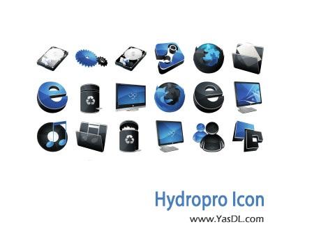 دانلود 46 آیکون آبی Hydropro Icon