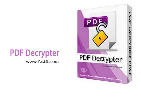 دانلود PDF Decrypter Pro v3.60 - حذف پسورد فایل های PDF