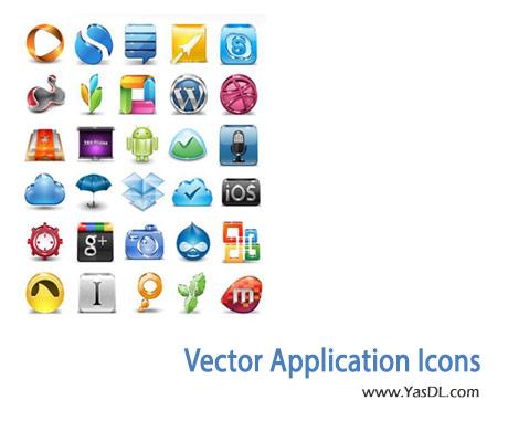 دانلود مجموعه 31 آیکن گرافیکی Vector Application Icons