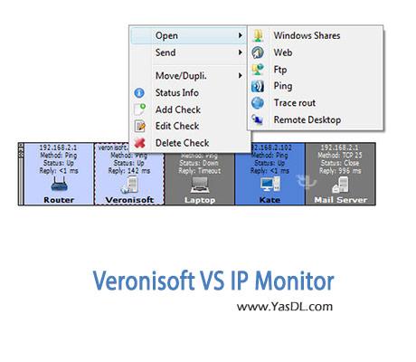 دانلود Veronisoft VS IP Monitor v1.5.10.3 نرم افزار مدیریت آی پی های شبکه