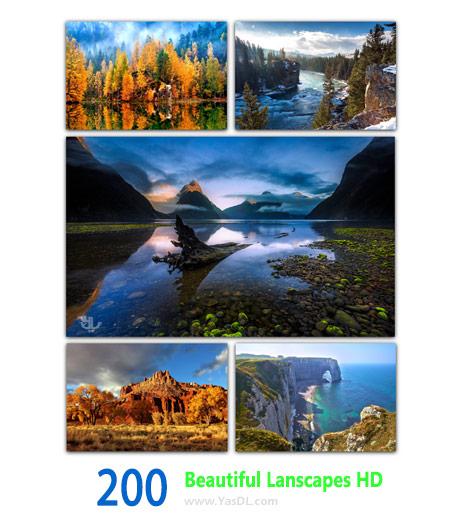 دانلود مجموعه 200 والپیپر طبیعت Beautiful Landscapers HD Wallpapers