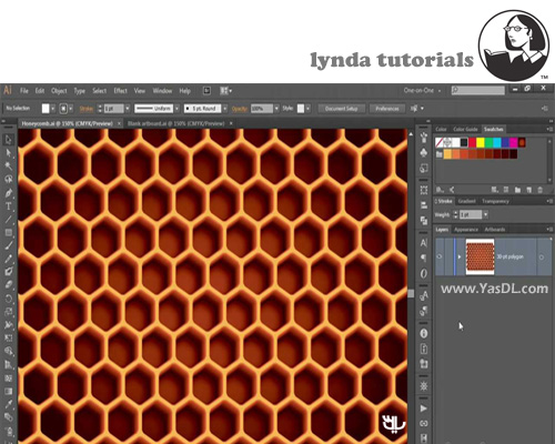 دانلود ویدیو آموزش طراحی کندوی عسل در Adobe Illustrator