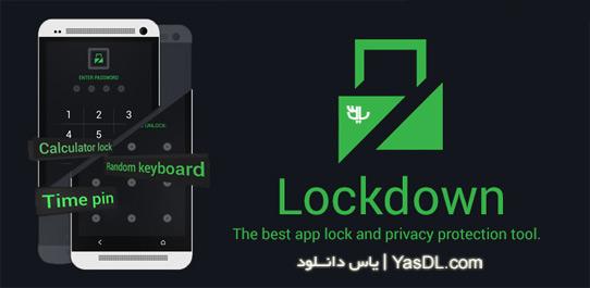دانلود Lockdown Pro Premium App Lock 2.2.5 - نرم افزار قفل گذاری برای اندروید